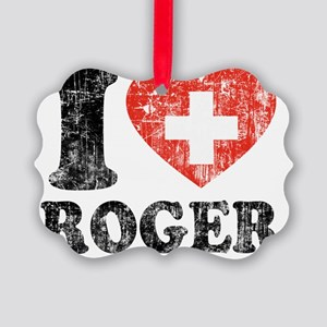 Love Roger Grunge Picture Ornament