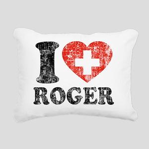 Love Roger Grunge Rectangular Canvas Pillow