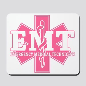 star of life - pink EMT word Mousepad