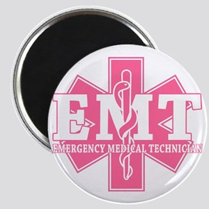 star of life - pink EMT word Magnet