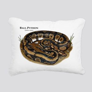 Ball Python Rectangular Canvas Pillow