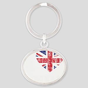 Love Andy Grunge -dk Oval Keychain