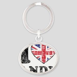Love Andy Grunge Oval Keychain