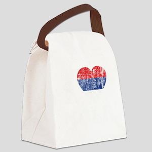 Nole Grunge -dk Canvas Lunch Bag
