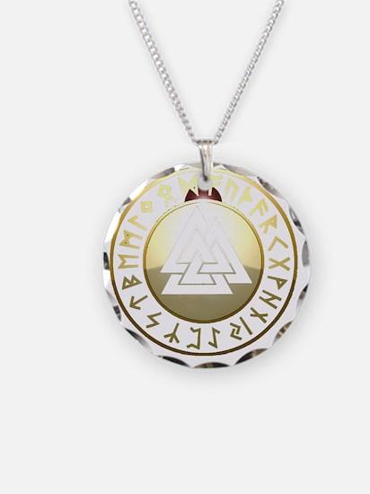 valknut rune shield Necklace