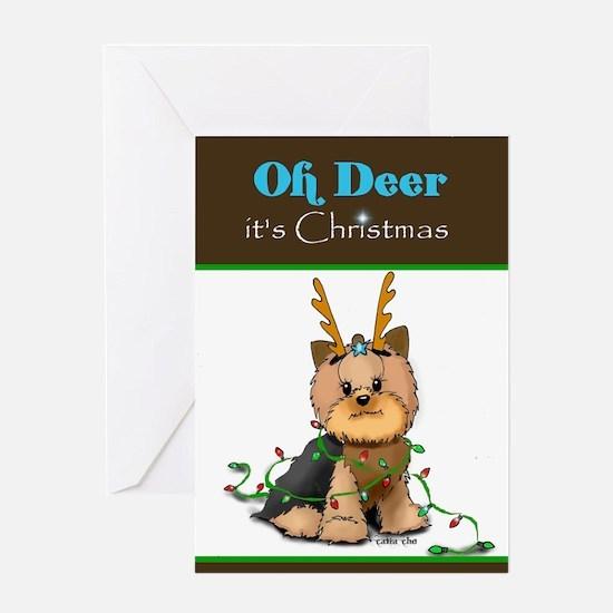 Christmas Yorkie Greeting Cards