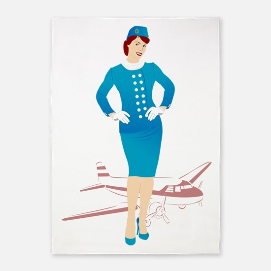 Flight Attendant 1 5'x7'Area Rug