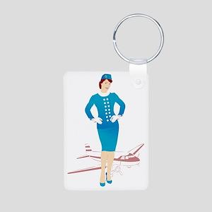 Flight Attendant 1 Aluminum Photo Keychain