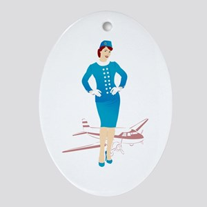 Flight Attendant 1 Oval Ornament