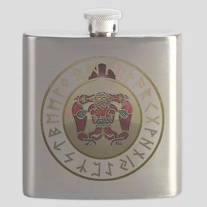 sutton hoo rune shield. Flask