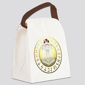 hammer rune shield Canvas Lunch Bag