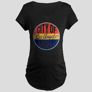 Los Angeles Vintage Label W Maternity Dark T-Shirt