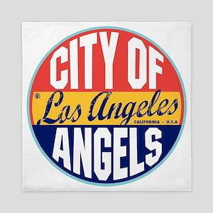 Los Angeles Vintage Label W Queen Duvet