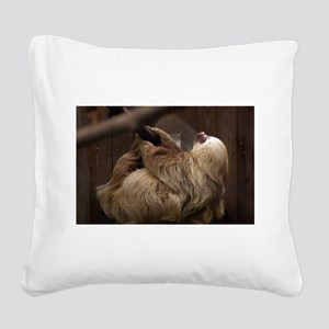 Sloth Square Canvas Pillow