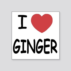 "GINGER Square Sticker 3"" x 3"""