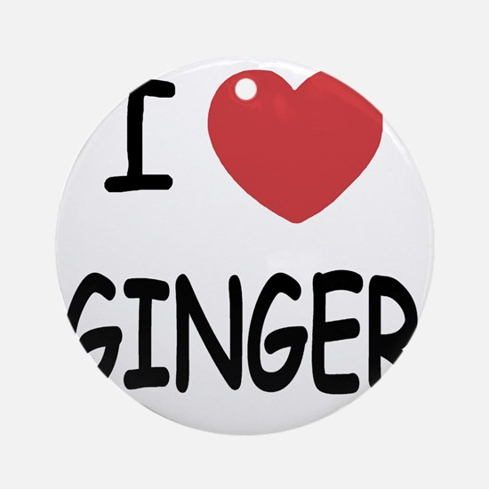 GINGER Round Ornament