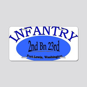 2nd Bn 23rd Infantry cap2 Aluminum License Plate