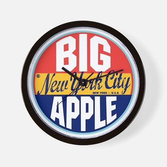New York Vintage Label W Wall Clock