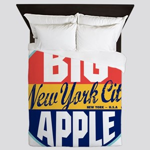 New York Vintage Label W Queen Duvet
