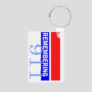 remembering 911 Aluminum Photo Keychain
