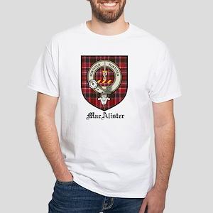 MacAlister Clan Crest Tartan White T-Shirt