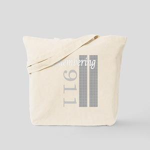 remembering 911 grey tower Tote Bag