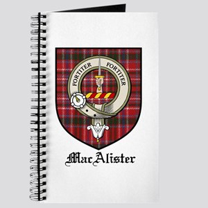 MacAlister Clan Crest Tartan Journal