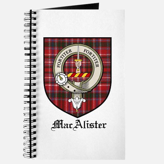 MacAlister Clan Crest Tartan Journal