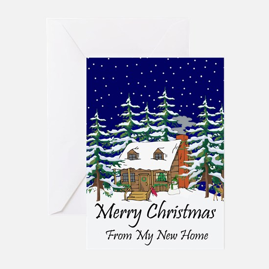 Cute New home christmas Greeting Cards (Pk of 20)