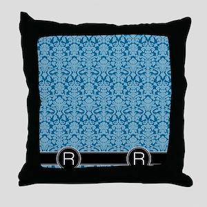 R_flip_flops_monogram_05 Throw Pillow