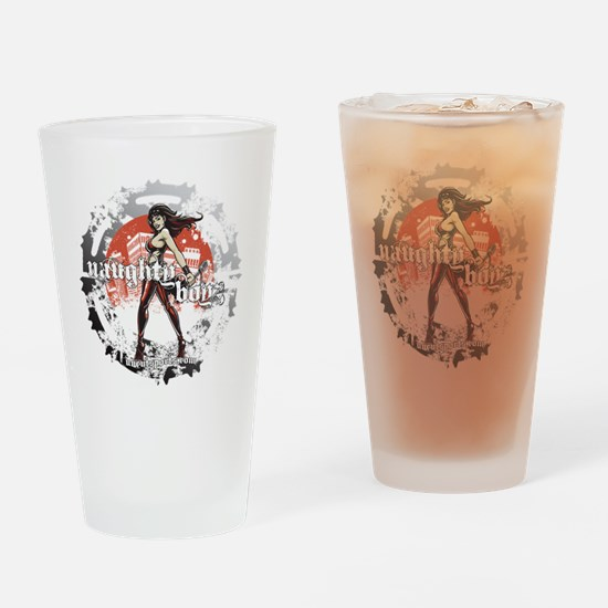 Naughty Boyz Black T Drinking Glass