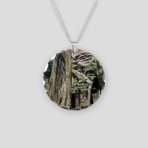 Ta Prohm overgrown temple ru Necklace Circle Charm
