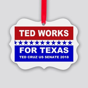 Ted works for Texas Picture Ornament