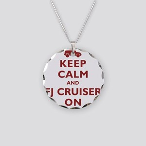 keep-calm-fj Necklace Circle Charm