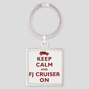 keep-calm-fj Square Keychain
