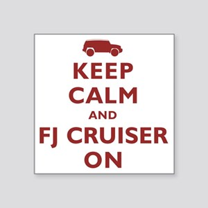 "keep-calm-fj Square Sticker 3"" x 3"""
