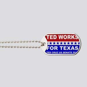 Ted works for Texas Dog Tags