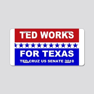 Ted works for Texas Aluminum License Plate