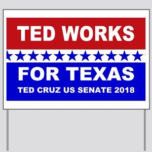 Ted works for Texas Yard Sign