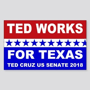 Ted works for Texas Sticker (Rectangle)