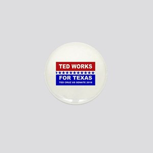 Ted works for Texas Mini Button