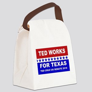 Ted works for Texas Canvas Lunch Bag