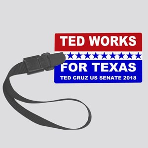 Ted works for Texas Large Luggage Tag