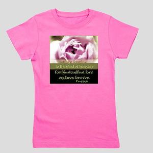 rose3 Girl's Tee
