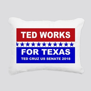 Ted works for Texas Rectangular Canvas Pillow