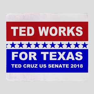 Ted works for Texas Throw Blanket
