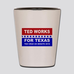 Ted works for Texas Shot Glass