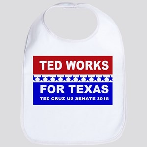 Ted works for Texas Cotton Baby Bib