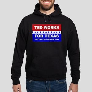 Ted works for Texas Hoodie (dark)