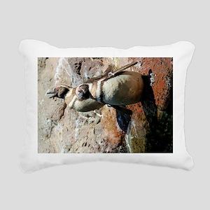Two Magellanic Penguins  Rectangular Canvas Pillow